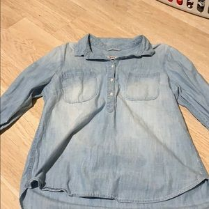 Blue washed out jean shirt